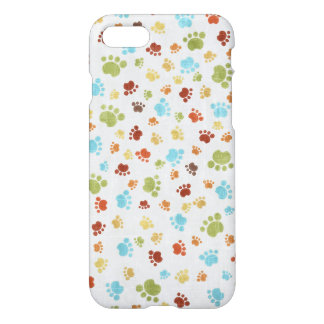 Cute Colorful Animal Footprints Pattern iPhone 7 Case