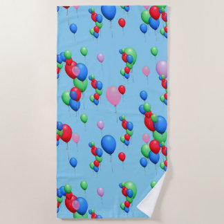 Cute Colorful Balloons Beach Towel