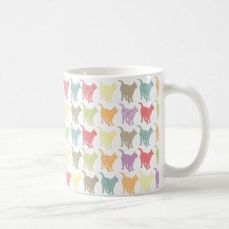 Cute Colorful Cats Pattern Classic White Coffee Mug
