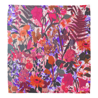 Cute colorful girley vintage flowers mixed kerchief