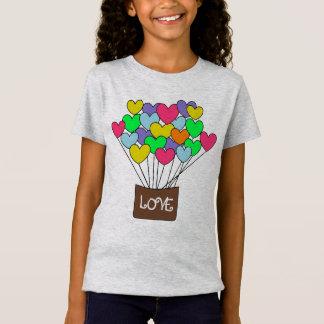 Cute Colorful Hearts LOVE Balloon Ride T-Shirt
