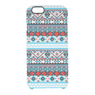 Cute colorful navajo patterns clear iPhone 6/6S case