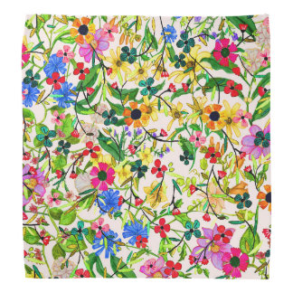 Cute colorful spring floral flowers kerchiefs