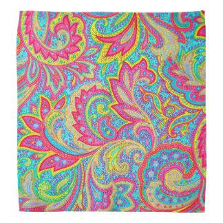 Cute colorful vintage floral design bandana