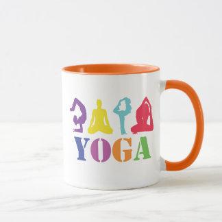 Cute Colorful Yoga Design Mug