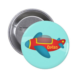 Cute Colourful Aeroplane Jet for Kids 6 Cm Round Badge