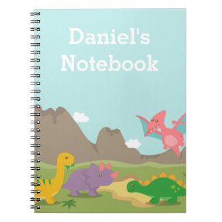 Cute Colourful Dinosaurs For Kids Notebooks