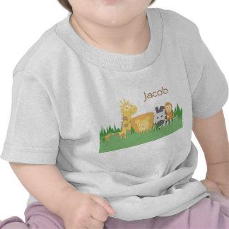 Cute Colourful Safari Animals For Babies Tshirt