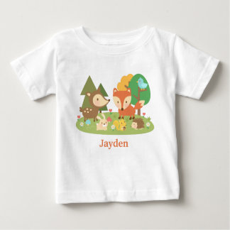 Cute Colourful Woodland Animal For Babies Tees