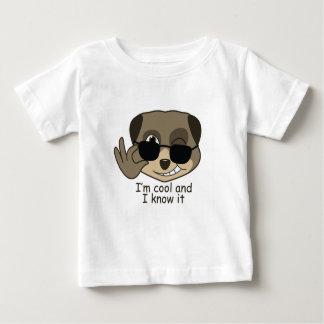 Cute, comic meerkat design. baby T-Shirt