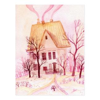 Cute cottage postcard