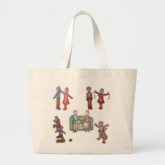 Cute Couple Funny Love Romance Art Jumbo Tote Bag