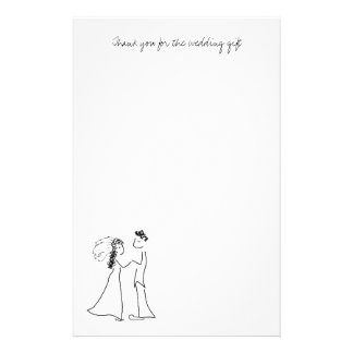Cute Couple Thank You Note Paper