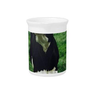 Cute cow farm animal calf pitcher