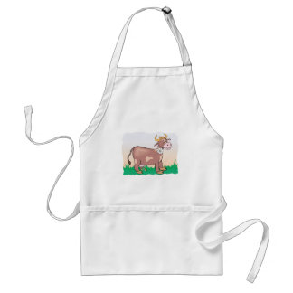 Cute Cow with Flower in Mouth Standard Apron
