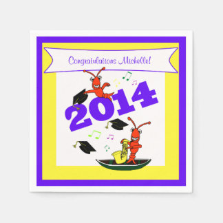 Cute Crawfish 2014 Graduation Disposable Napkins