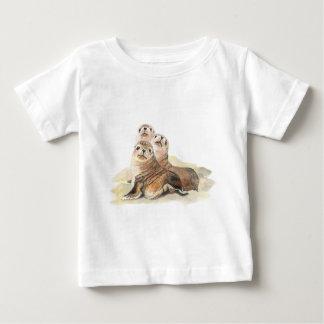 Cute Curious Seals, Watercolor Animals T-shirt