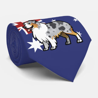 Cute Customisable Pet on Country Flag Tie