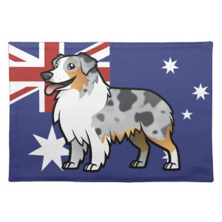 Cute Customizable Pet on Country Flag Placemat