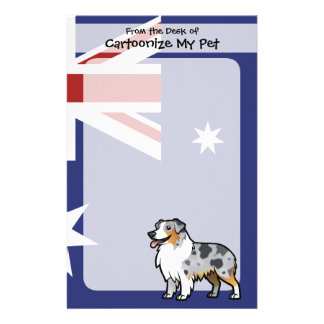 Cute Customizable Pet on Country Flag Stationery