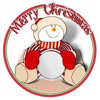 Cute Cutout Snowman - Merry Christmas Acrylic Cut Out