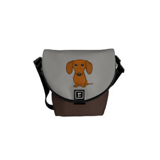 Cute Dachshund | Cartoon Wiener Dog Courier Bag