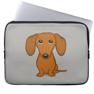 Cute Dachshund | Cartoon Wiener Dog Laptop Sleeve