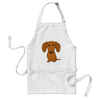 Cute Dachshund | Cartoon Wiener Dog Standard Apron