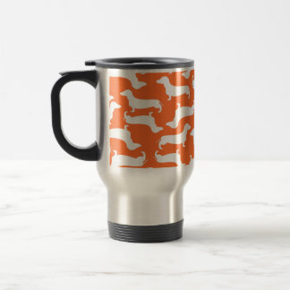 Cute Dachshund Pattern Perfect Gift for Doxie Love Travel Mug
