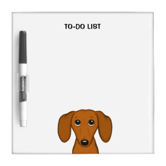 Cute Dachshund with Custom Text Dry Erase Board
