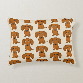 Cute Dachshunds Pattern Decorative Cushion