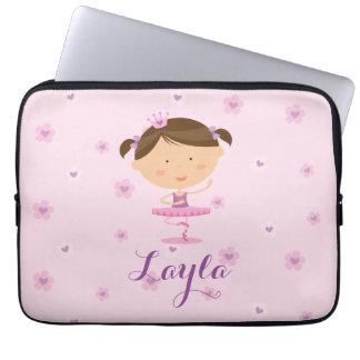 Cute Dancer Ballerina Girl Laptop sleeve