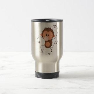 Cute Dancing Monkey Stainless Steel Travel Mug