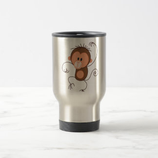 Cute Dancing Monkey Travel Mug
