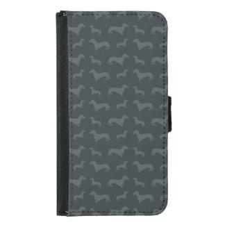 Cute dark gray dachshund pattern