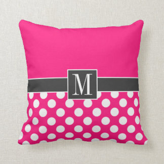 Cute Deep Pink Polka Dots Cushions
