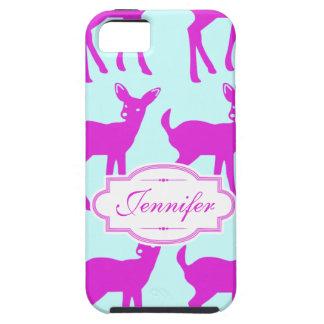 Cute Deer Hot Pink & Blue Pattern iPhone Case