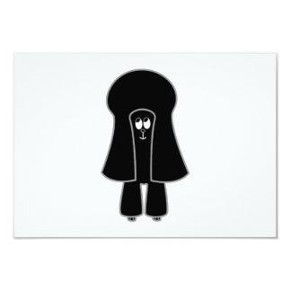 Cute Dog. Black Toy Poodle / Miniature Poodle. Custom Announcement
