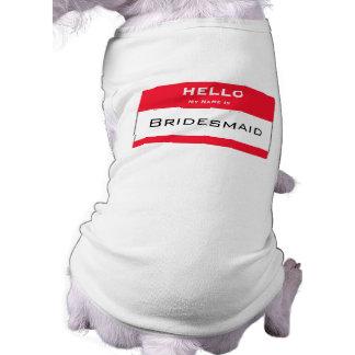 Cute Dog Bridesmaid Dog Tank Top Pet Tee