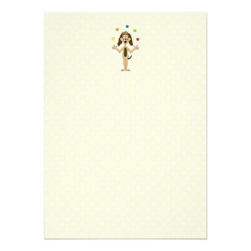 Cute Dog Cartoon. Juggler. Announcements