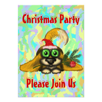 Cute dog Christmas party invitation card design