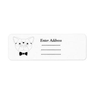 Cute dog Custom address label Sticker
