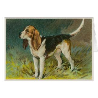 Cute Dog Greetings With Sweet Beagle Print Greeting Card