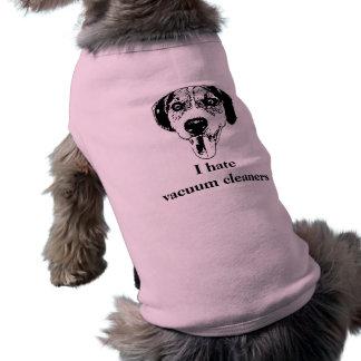Cute dog hates housework shirt pet clothes