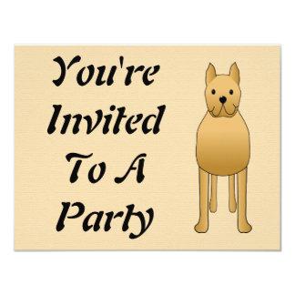 Cute Dog 4.25x5.5 Paper Invitation Card