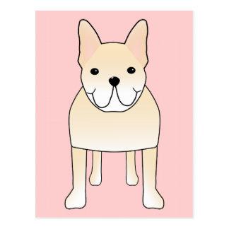 Cute Dog. Pale Cream French Bulldog. Postcards