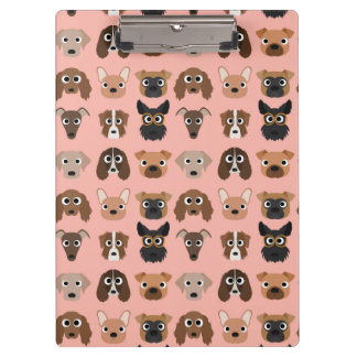 Cute Dogs on Pink Clipboards