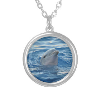 Cute Dolphin Silver Plated Necklace