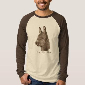 Cute donkey drawing animal portrait realist art t-shirt