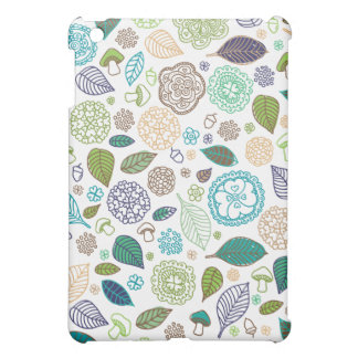 Cute doodle flowers and oriental illustrated case iPad mini cover